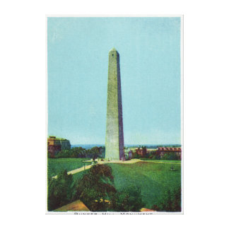 Distant View of the Bunker Monument Canvas Print