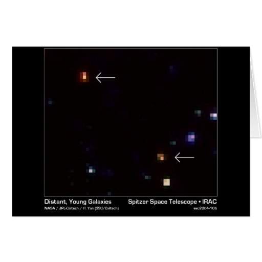 Distant, Young Galaxies – Spitzer Space Telescope  Greeting Card