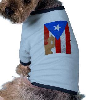 distessed el moro puerto rico.png dog t-shirt