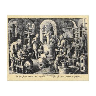 Distillation Furnace in an Alchemy Lab Canvas Print