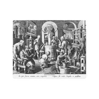 Distillation Furnace in an Alchemy Lab Metal Photo Print
