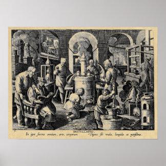 Distillation Furnace in an Alchemy Lab Poster