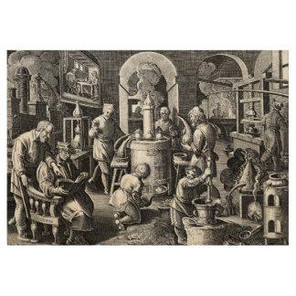 Distillation Furnace in an Alchemy Lab Wood Poster