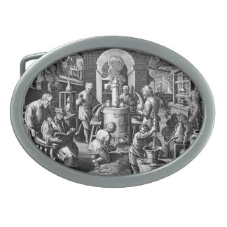 Distillation in an Alchemy Lab Belt Buckle