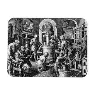 Distillation in an Alchemy Lab Rectangular Photo Magnet