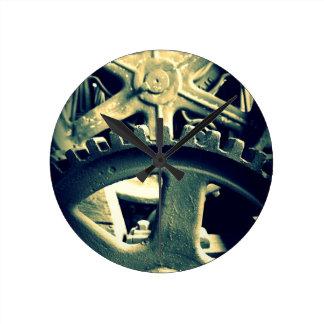 Distillery Gears Round Clock