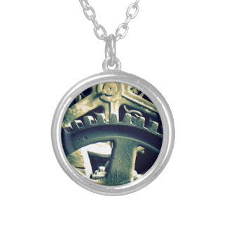 Distillery Gears Silver Plated Necklace