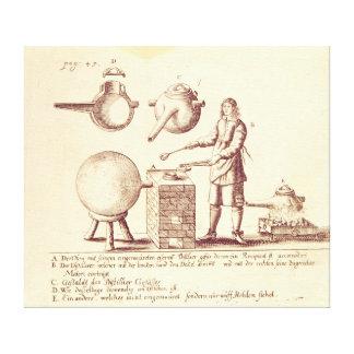 Distilling Equipment Canvas Print