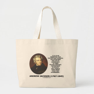 Distinctions In Society Exist Under Just Gov't Large Tote Bag