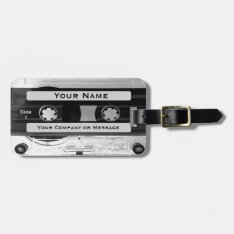 Distinctive Audio Cassette Effect Luggage Tag at Zazzle