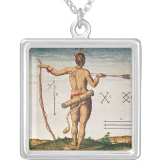 Distinctive Markings of a Warrior of Virginia Silver Plated Necklace