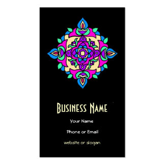 Distinctive Pink Blue Cream Black Business Card