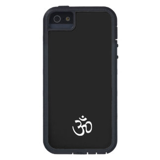 DISTINCTIVE WHITE OM ON A BL BACKGR ENLIGHTENING! iPhone 5 CASES