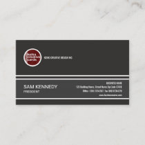 Distinguish Exquisite Grey President Business Card