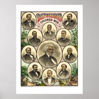 DISTINGUISHED AFRICAN AMERICAN MEN   1883 PRINT