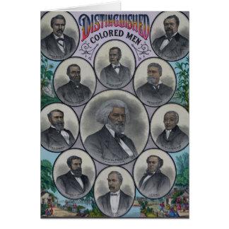 Distinguished Colored Men Card