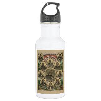Distinguished Colored Men Frederick Douglass 1883 18oz Water Bottle
