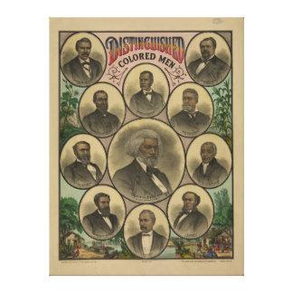 Distinguished Colored Men Frederick Douglass 1883 Canvas Print