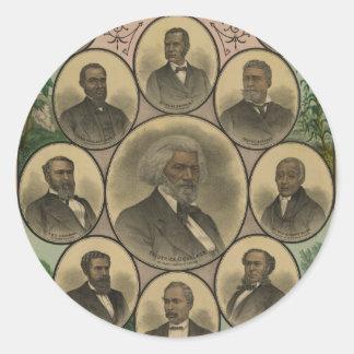 Distinguished Colored Men Frederick Douglass 1883 Classic Round Sticker