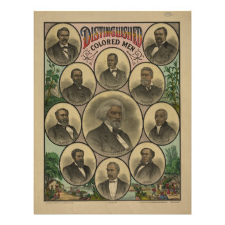 Distinguished Colored Men Frederick Douglass 1883 Custom Letterhead