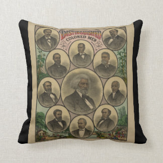 Distinguished Colored Men Frederick Douglass 1883 Throw Pillows