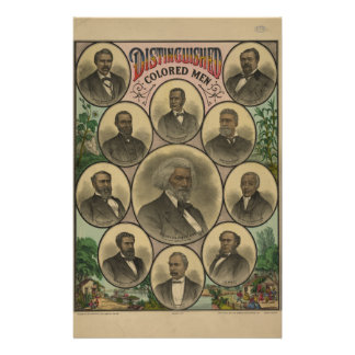 Distinguished Colored Men Frederick Douglass 1883 Stationery