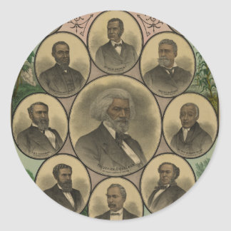 Distinguished Colored Men Frederick Douglass 1883 Round Sticker