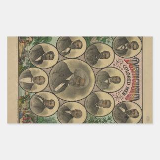 Distinguished Colored Men Frederick Douglass 1883 Rectangular Sticker