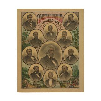 Distinguished Colored Men Frederick Douglass 1883 Wood Print