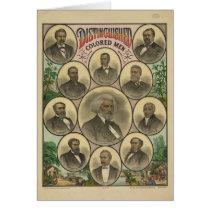 Distinguished Colored Men Frederick Douglass Card