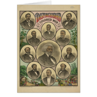 Distinguished Colored Men Frederick Douglass Card