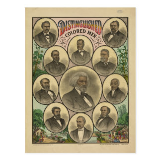 Distinguished Colored Men Frederick Douglass Postcard