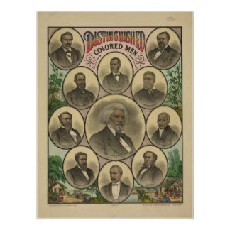 Distinguished Colored Men Frederick Douglass Poster