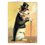 Distinguished Dog New Year Wishes Greeting Cards