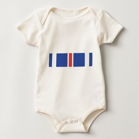 Distinguished Flying Cross Ribbon Baby Bodysuit
