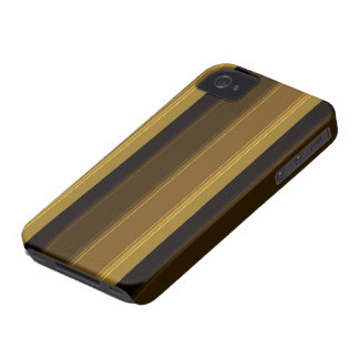 Distinguished Gentleman: Brown Striped Panels iPhone 4 Case-Mate Case