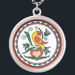 "Distlefink (orange) - necklace<br><div class=""desc"">a symbol for good luck used on Pennsylvania Dutch items</div>"