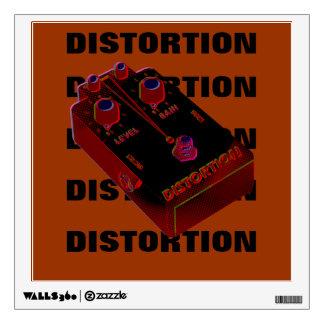 Distorsión de la guitarra eléctrica roja y negra