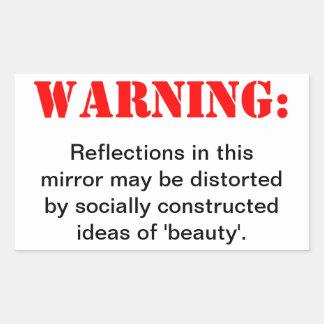 Distorted Beauty Rectangular Sticker
