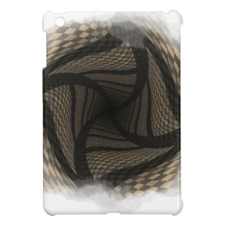 Distorted brown checkered background 2 iPad mini cover