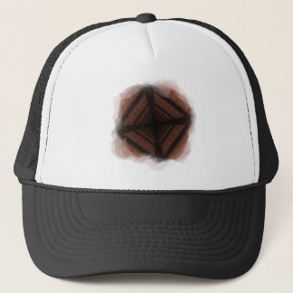Distorted colorful checkers trucker hat