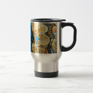 Distorted Dialog (abstract metallic expressionism) Travel Mug