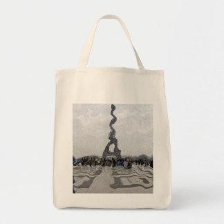 Distorted eiffel tower impressionist style bag
