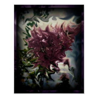 Distorted Flower Poster