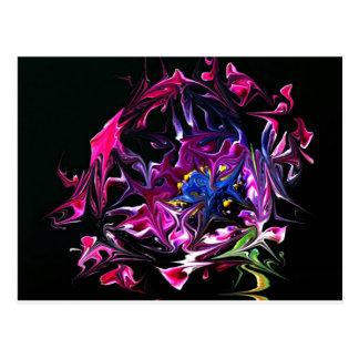 Distorted Flowers Art Postcard