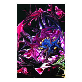 Distorted Flowers Art Stationery