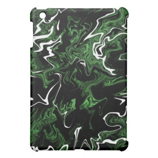 Distorted Green Graphic iPad Case