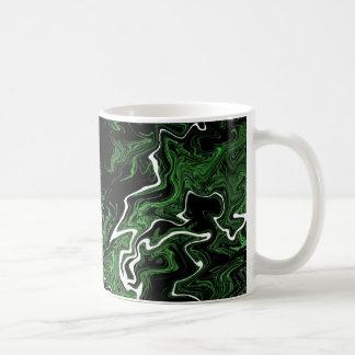 Distorted Green Graphic Mug