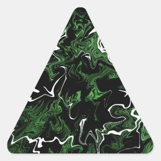 Distorted Green Graphic Triangle Sticker
