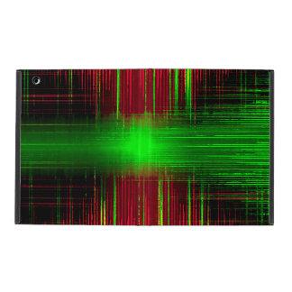 Distorted music recording equalizer iPad folio case